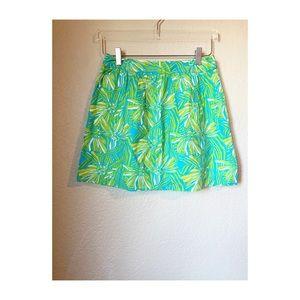 Lilly Pulitzer Tropical Mini Skirt Sz 2